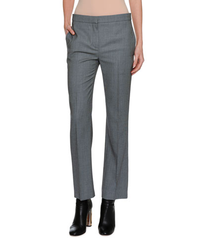 Birdseye Cropped Wool Pants