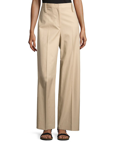 Werto Wide-Leg Pants, Beige