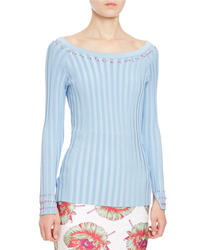 Tatum Striped Knit Ballet Top