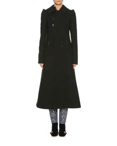 Classic Virgin Wool Coat, Black