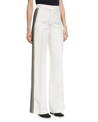 Lace-Striped Tuxedo Pants
