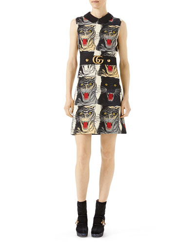 Tiger Face Cady Dress, Multi
