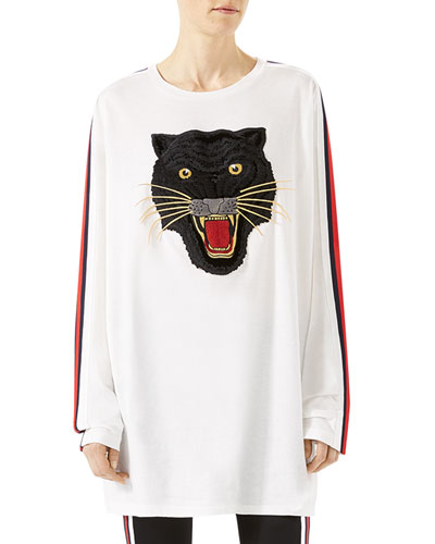 Oversized T-Shirt with Panther