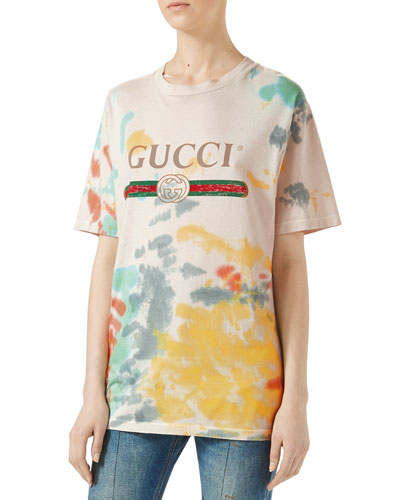 Gucci Print Cotton T-Shirt, Multicolor