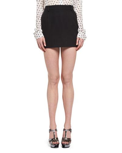 Tuxedo Mini Skirt