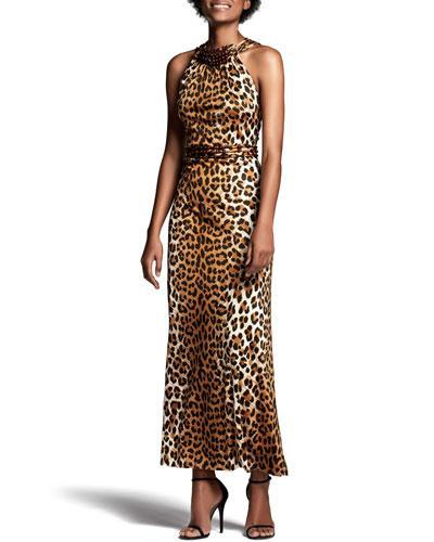 Arizona Leopard-Print Maxi Dress