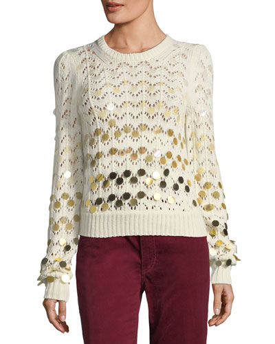 Dégradé Paillette Sweater