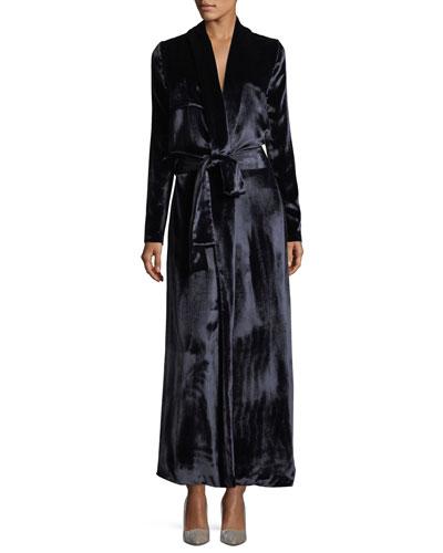 Belted Velvet Trenchcoat