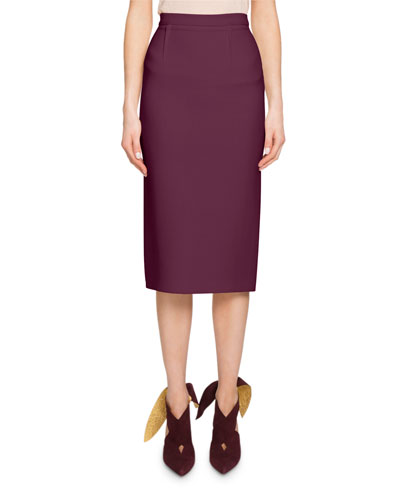 Arreton Wool Pencil Skirt