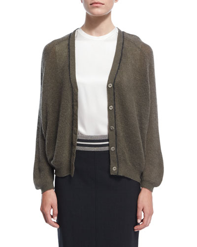 Ribbed Knit Dolman Cardigan