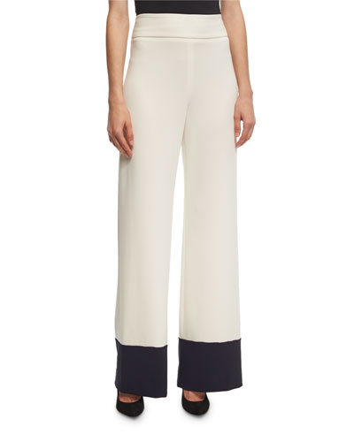 Wide-Leg Colorblock Pants