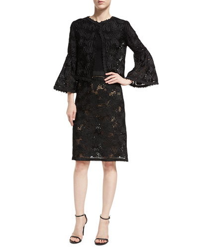 Lace Bell-Sleeve Jacket