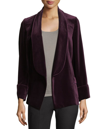 Velvet Shawl-Collar Jacket