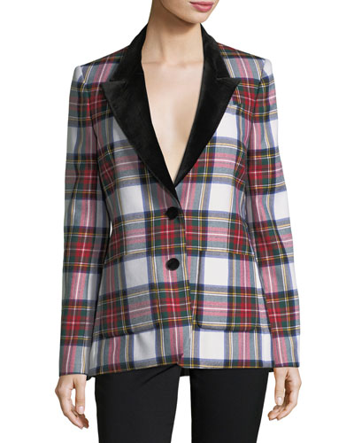 Yorkshire Tartan Plaid Two-Button Jacket