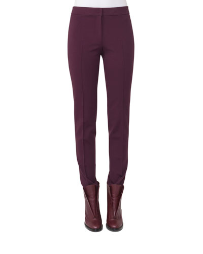 Mara Cropped Leather-Front Pants