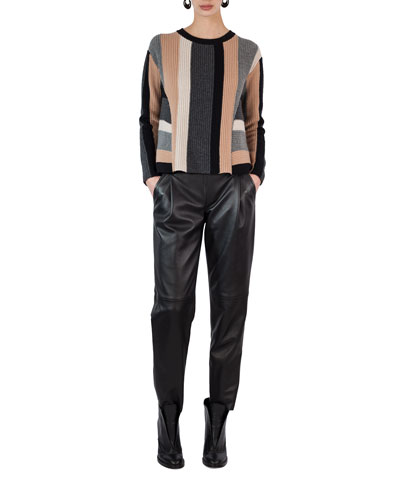 Fiola Leather Slouchy Pants