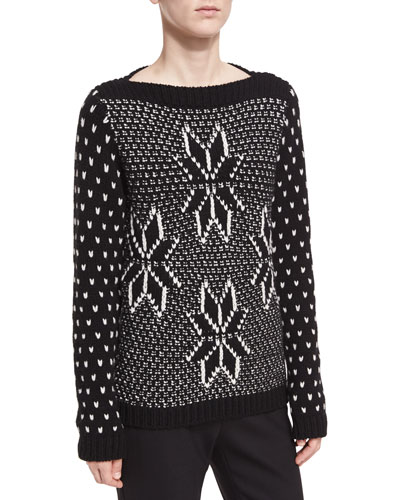 Knit Boat-Neck Sweater