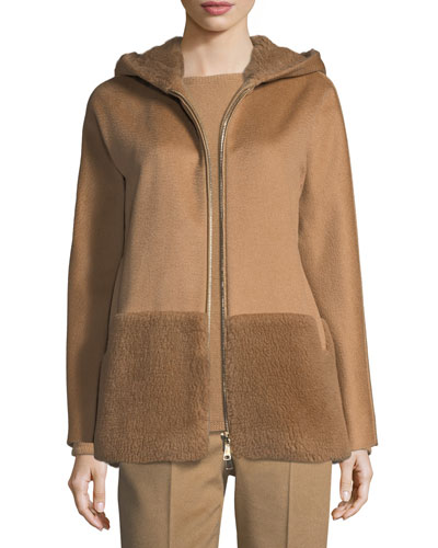 Hooded Zip-Front Coat