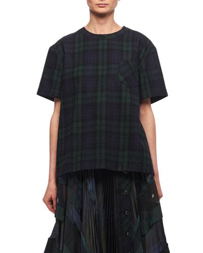Plaid Short-Sleeve Top