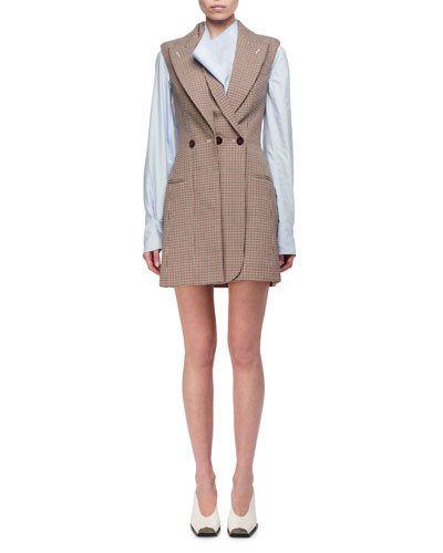 Check Wool Blazer Dress
