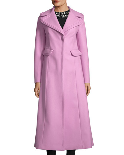 Long Notch-Collar Coat