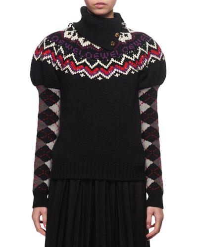Fair Isle Logo Knit Sweater