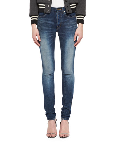 Medium Wash Denim Jeans, Blue