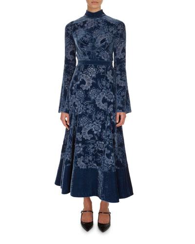 Christina Devore Velvet Midi Dress