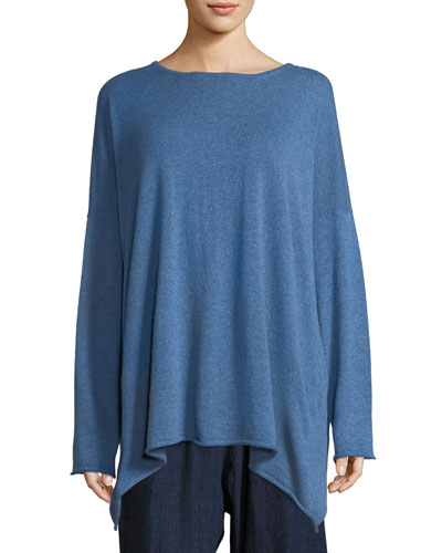 Long A-Line Cashmere Sweater