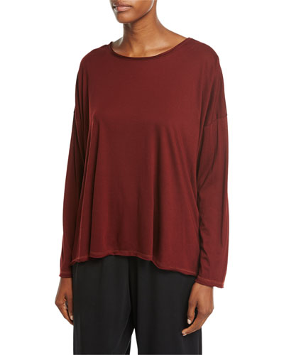 Long-Sleeve Pima Cotton Top