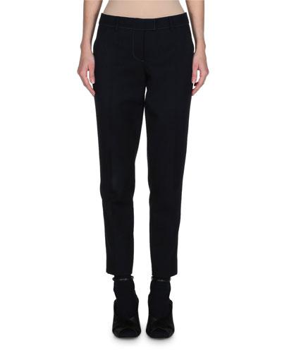 Straight-Leg Gabardine Pants