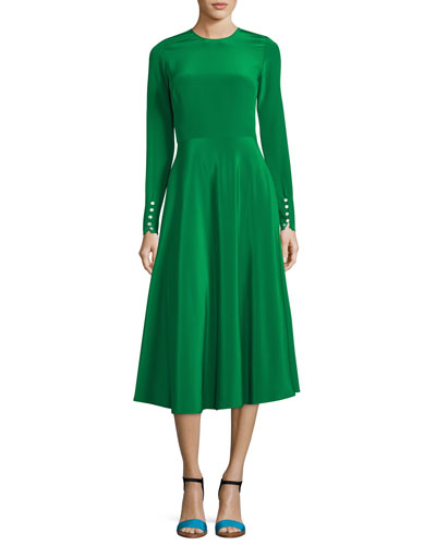 The Canaan Long-Sleeve Circle Skirt Dress