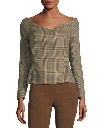 Helene Plaid Wool Jacket