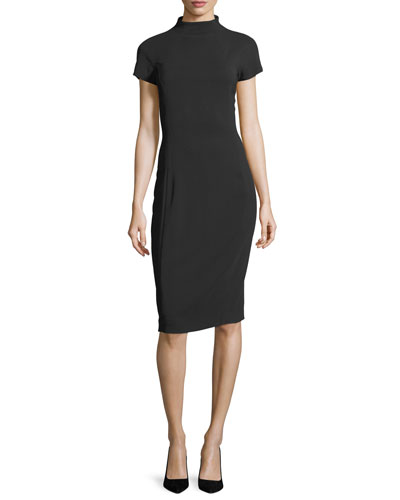 Jeanette Mock-Neck Sheath Dress