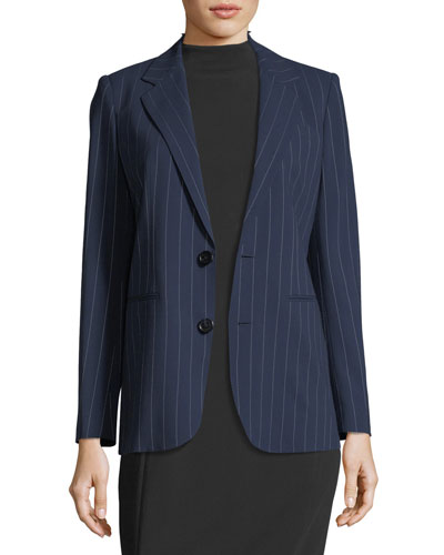 Fabian Pinstriped Wool Jacket