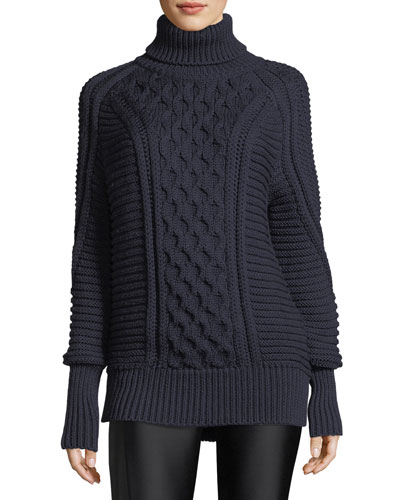 Chunky Cable-Knit Wool Sweater