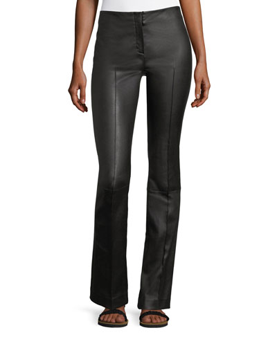 Avery Seamed Leather Pants