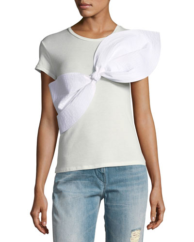 Lennon Short-Sleeve Bow T-Shirt