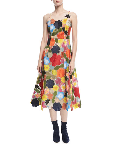 Hodges Podges Floral A-Line Dress