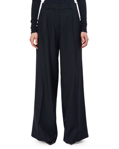 Wide-Leg Two-Tone Trousers