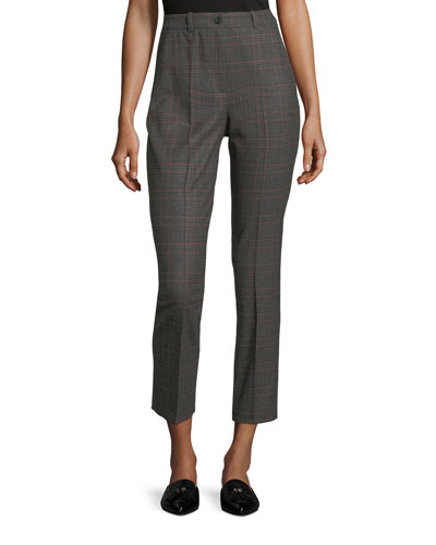 Samantha Cropped Plaid Pants