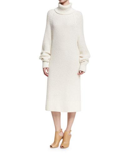 Knit Turtleneck Sweaterdress