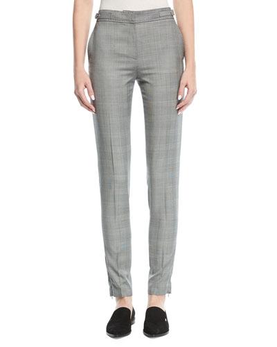 Straight-Leg Check Pants