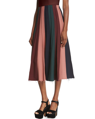 Ernst Pleated Midi Skirt