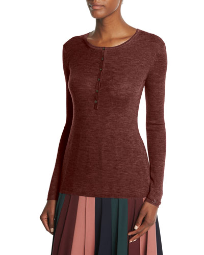 May Knit Henley Top