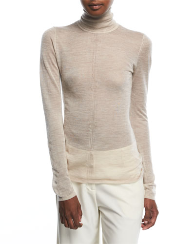 Steinem Sheer Knit Turtleneck Sweater