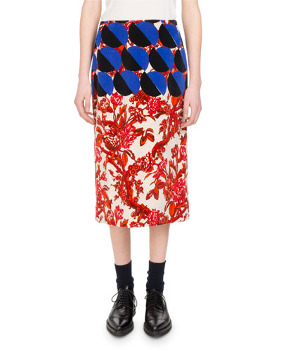 Scranton Floral Circle Skirt