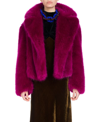 Rimbald Cropped Faux Fur Coat