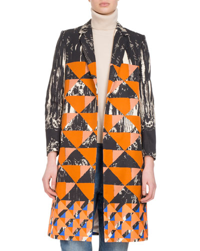 Ricks Geometric-Print Coat