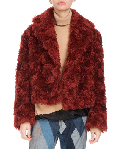 Rimbald Cropped Fuzzy Coat